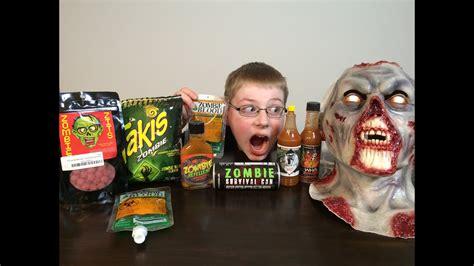 takis zombie sauce crude eating challenge brothers gauntlet zits