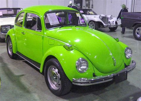 green volkswagen beetle 1972 lime green vw super beetle vw beetle hmmm