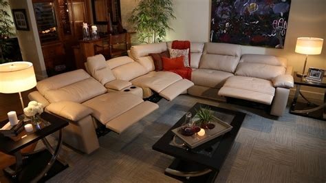 Living Room With Recliners by Baroque Reclining Sectionalin Living Room Rustic With