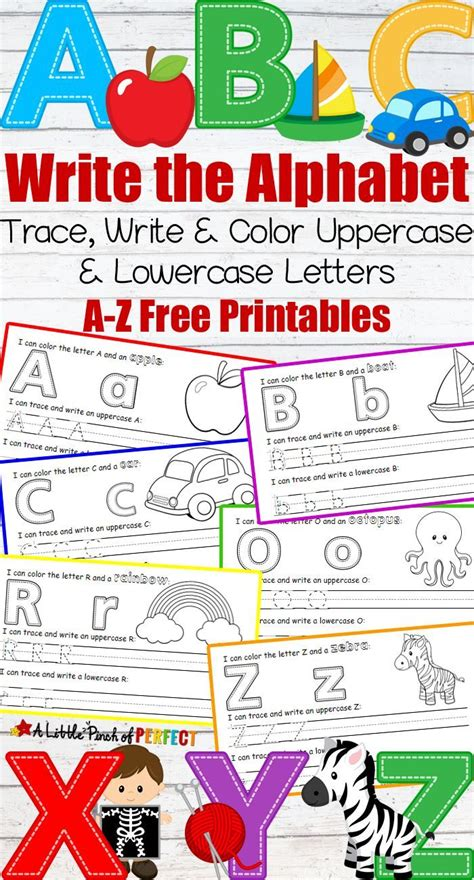letter writing practice  printables abc themes