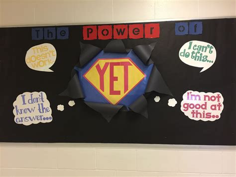 The Power Of Yet. Growth Mindset Bulletin Board