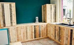 Plan Meuble Palette : une cuisine quipe avec du bois de palette with plan meuble ~ Dallasstarsshop.com Idées de Décoration
