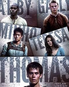 The Maze Runner Thomas, Teresa, Gally, Newt, Alby, Minho ...