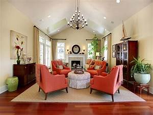 Traditional Living Rooms Ideas Coral And Blue Decorating