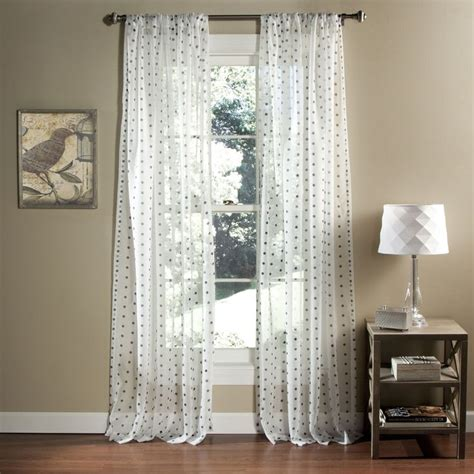 lush decor polka dot sheer curtain panel pair by lush decor shopping lush and the o jays