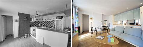 estrade pour cuisine avant aprés réorganisation d 39 un appartement 2 pièces