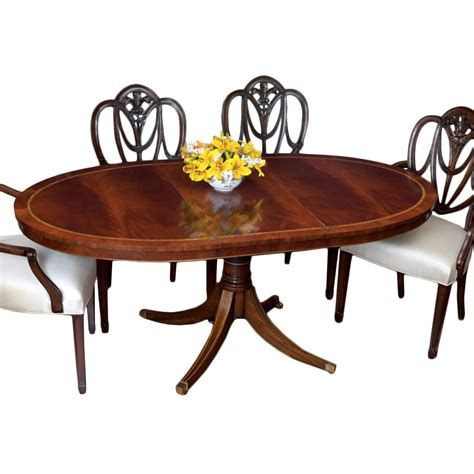 dining table with stools mahogany oval dining table and heart shield back chairs