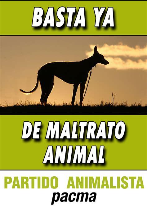 cartel por los galgos maltratados castellano partido