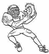 Football Coloring Printable Pages Sheets Bestcoloringpagesforkids sketch template