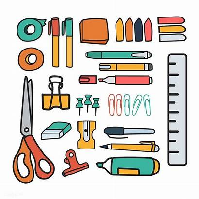 Stationery Vector Doodle Rawpixel Drawing Clipart Doodles