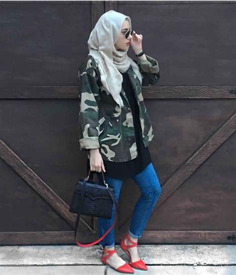 idees de style hijab avec jeans slim pour vous inspirer