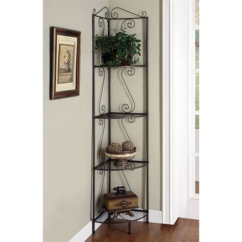 corner display shelf victory corner display rack plant stand golden copper