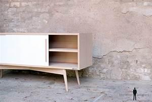 meuble tv hifi vinyles style vintage sur mesure france With meuble 33 tours