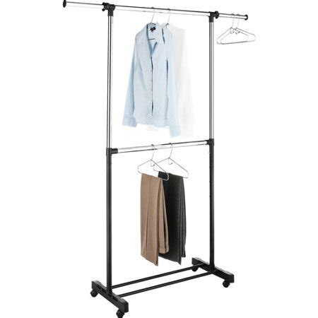 laundry rack walmart whitmor adjustable 2 rod garment rack chrome black