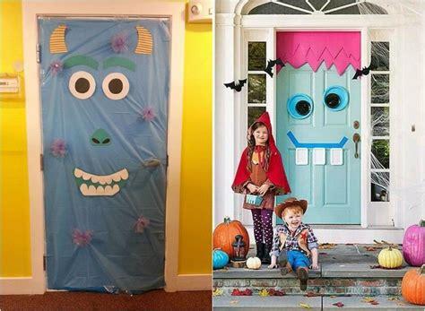 halloween deko fuer die haustuer basteln  tuerdeko ideen