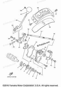 Yamaha Atv 2014 Oem Parts Diagram For Shift Shaft