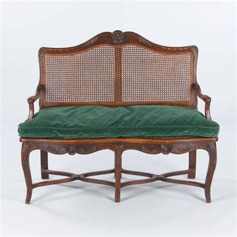 8690 furniture bedroom furniture 170905 louis xv style walnut and caned bench early 1900s at 1stdibs