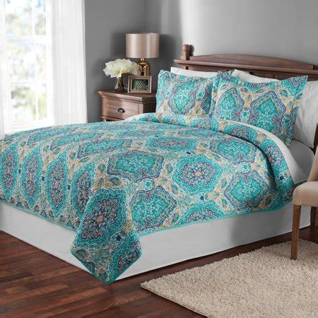 mainstays multicolor paisley quilt  sham collection