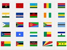 Afrika flaggor svår version geografispel