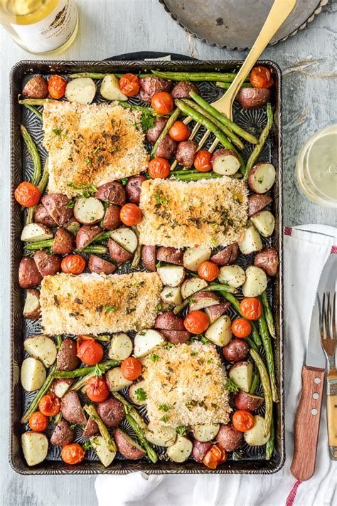 pan sheet salmon honey dinner mustard cookie recipe crusted healthy recipes meal thecookierookie potatoes dinners rookie minutes under beans plan