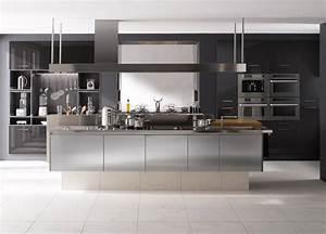 Meuble Cuisine Design : cuisine design en inox perene ~ Teatrodelosmanantiales.com Idées de Décoration