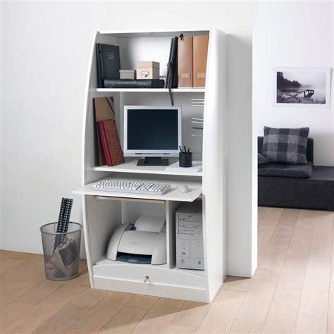 bureau qui se ferme armoire de bureau largeur 60 cm