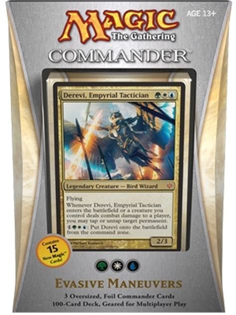 Mtg Commander Deck Builder by Commander 2013 Evasive Maneuvers Thema Decks Bazaar