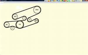 Diagram For Drive Belt Arrangement And Adjustment Bmw E46