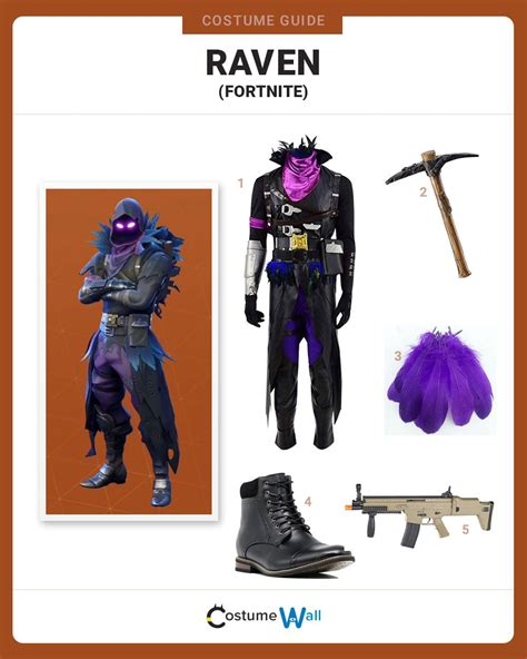 dress  raven  fortnite costume  cosplay guide