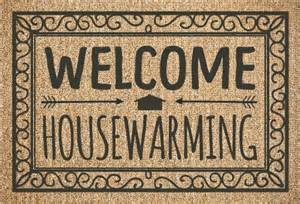 house planner welcome rug housewarming invitation housewarming