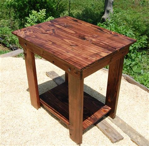 wood side table plans pallet side table and nightstand pallet furniture plans
