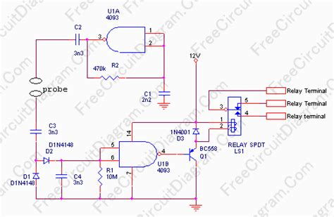 Water Level Sensor Circuit Wiring Diagrams