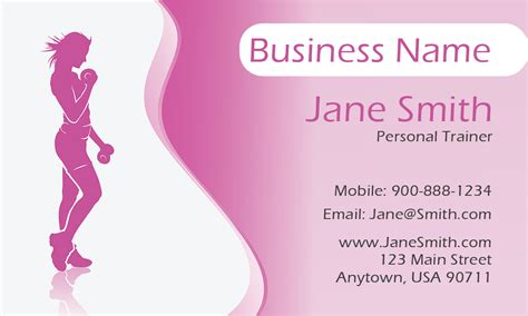 girly business cards templates free pink girly personal trainer business card design 801171