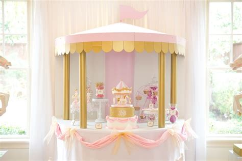karas party ideas pink carousel birthday party karas