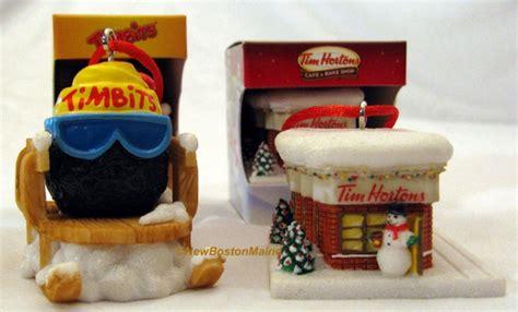 x2 tim hortons coffee christmas tree ornaments timbits