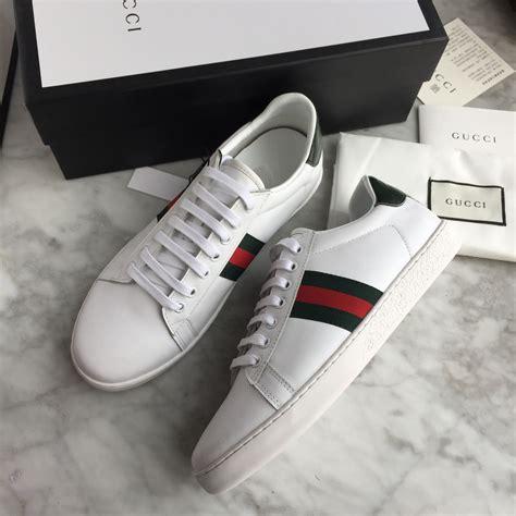 Gucci unisex woman man shoes white sneakers | Menu0026#39;s fashion | Pinterest | White sneakers Gucci ...