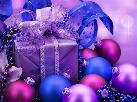purple christmas gifts background   desktop