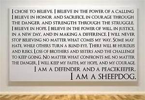 sheepdog quote police