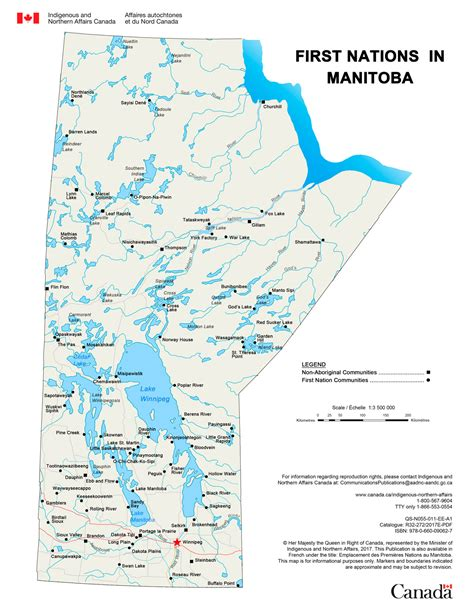 Locations First Nations Manitoba