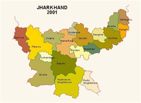 Census of India : Map of Jharkhand