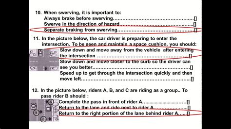 2015 Dmv Motorcycle Released Test Questions Part 1 Written