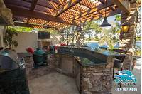 interesting tuscan outdoor kitchen style Tuscan Style Outdoor Living Space - Pergola - Mediterranean - Patio - Orlando - by Sea Maiden Pools