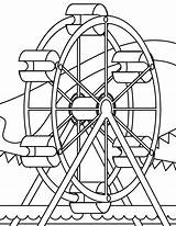 Coloring Park Pages Amusement Wheel Ferris Colouring Coaster Roller Miscellaneous Printable Sheets Source Ark Getcolorings Noahs November Getdrawings Popular sketch template