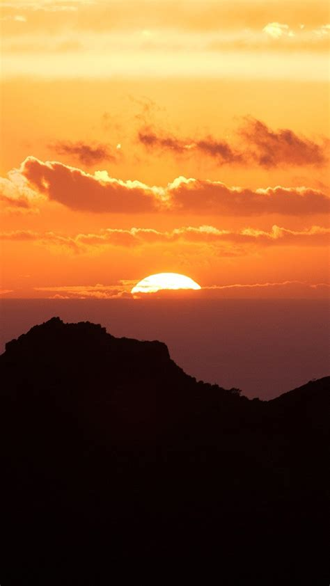 papersco iphone wallpaper nk canary island sunset
