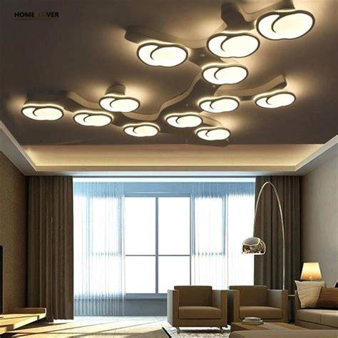 Design Deckenleuchten Wohnzimmer by Groahandel Kreis Ringe Designer Moderne Led Deckenleuchten