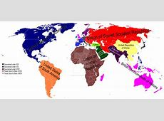 Postwar new world order map by Maurice Gomberg by Saint