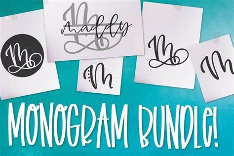 monogram bundle  styles including  split monogram  monogram font bundles