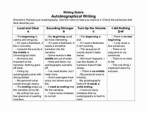 sample autobiography essay assignment