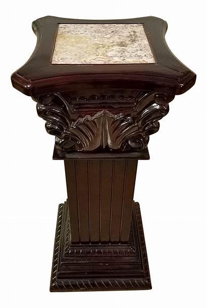 Pedestal Wooden 1970s