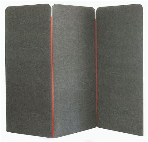paravent bureau paravent buzziscreen acoustique 3 panneaux gris buzzispace